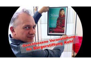 """Malala - Mädchen mit Buch - Geschlossene Veranstaltung für die """"Bürgerstiftung Kehl"""" @ Alte Rösterei"""